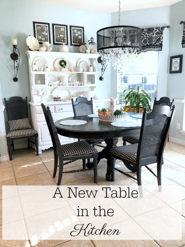 A new table in the kitchen
