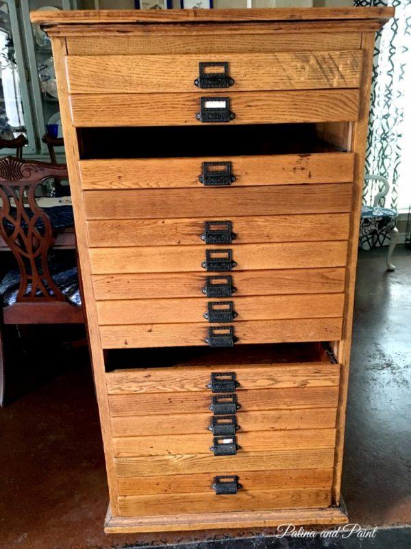 Antique Map chest
