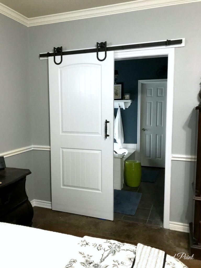 New Bedroom Barn Door - Patina and Paint