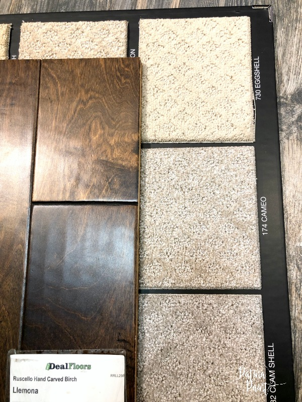 hardwood flooring and carpet