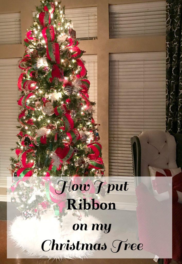 Wide Ribbon On Christmas Tree