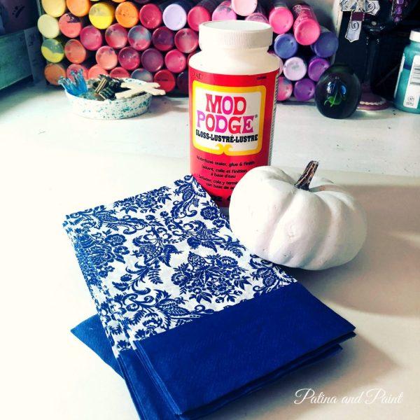 how to make damask pumpkins