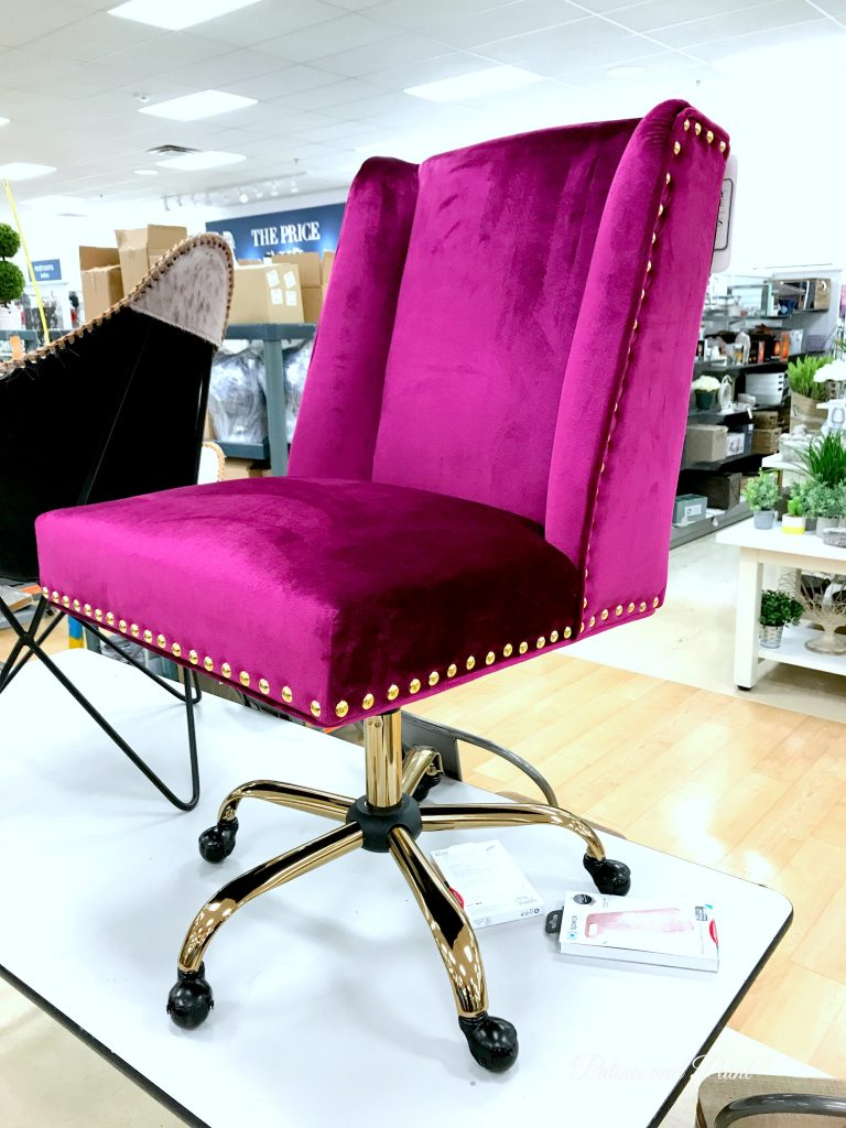 Fuchsia office chair