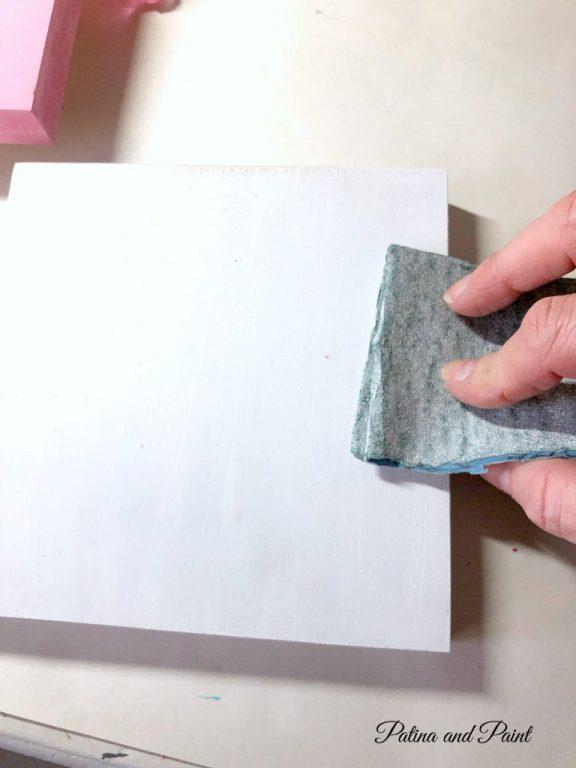 sanding wooden block