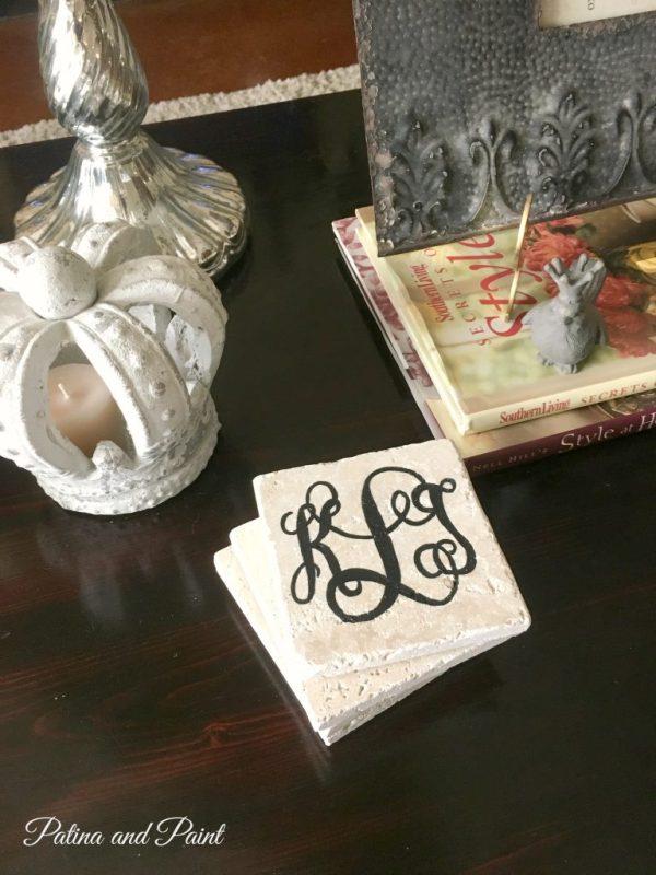 Monogram coasters 4
