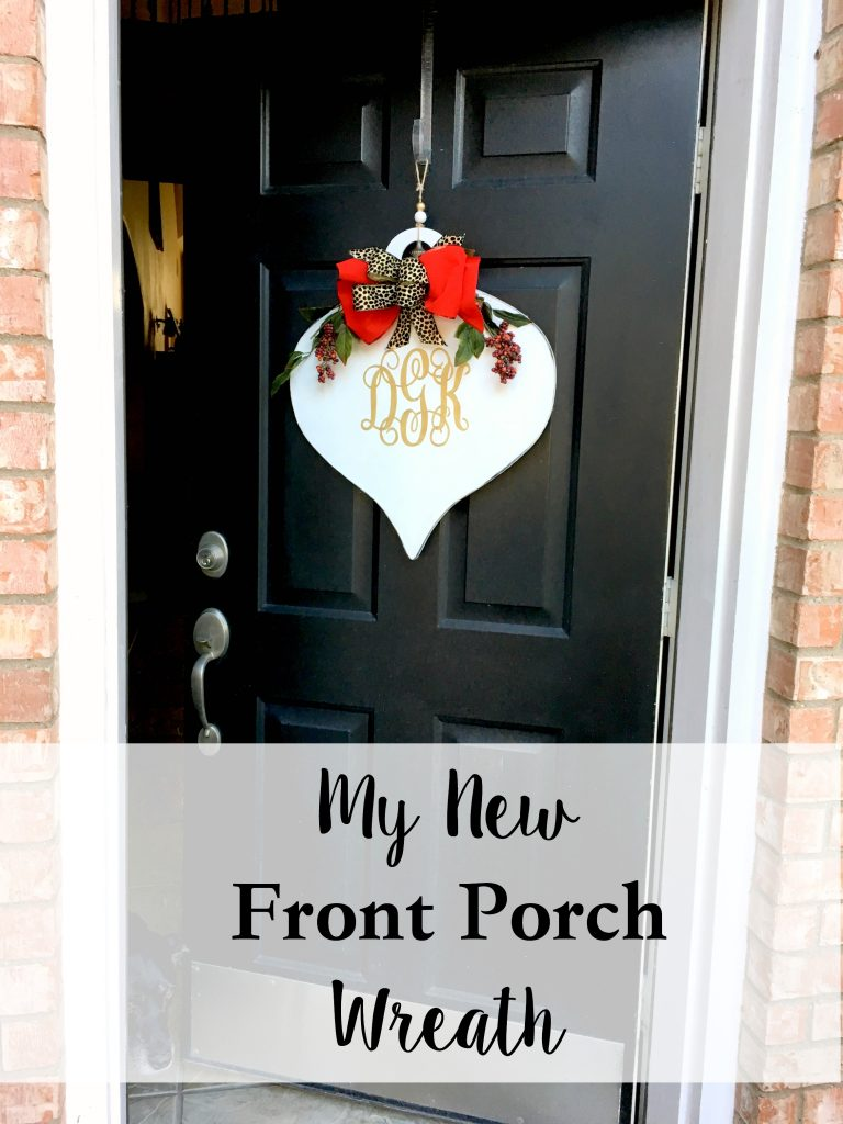 My New Front Porch Wreath