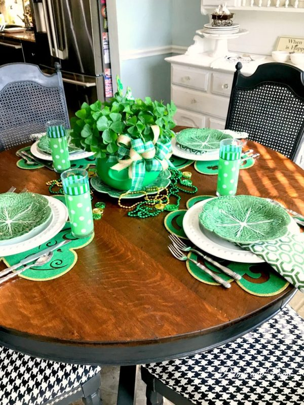 my St. Patrick's Day table