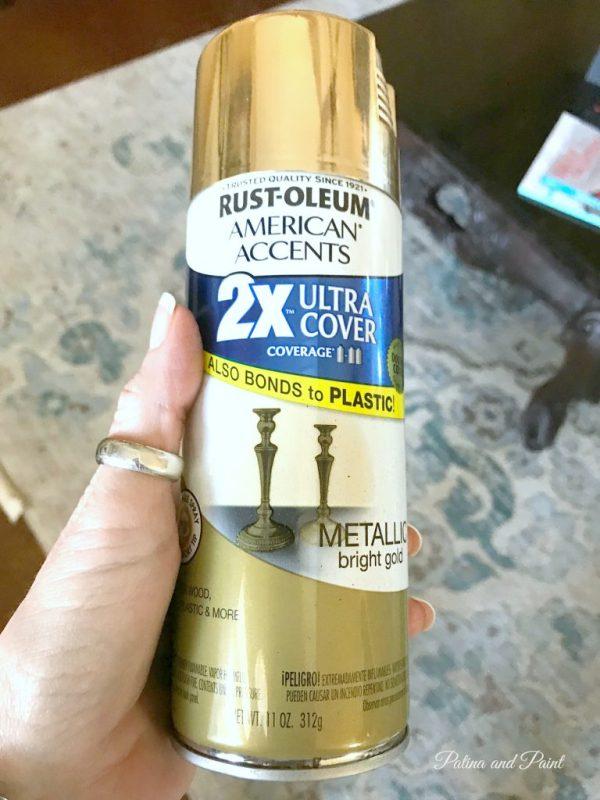 gold spray paint