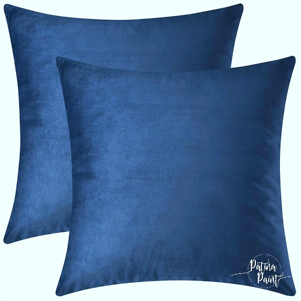 Navy pillow cover