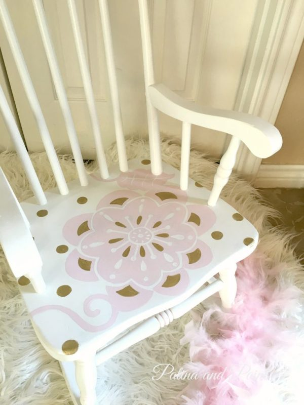 Painted rocking chair 2