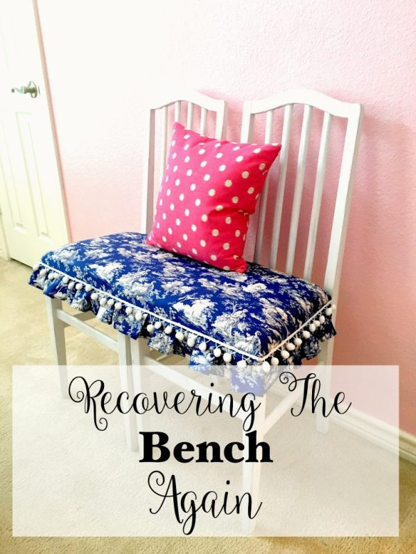 Recovering the bench again 12