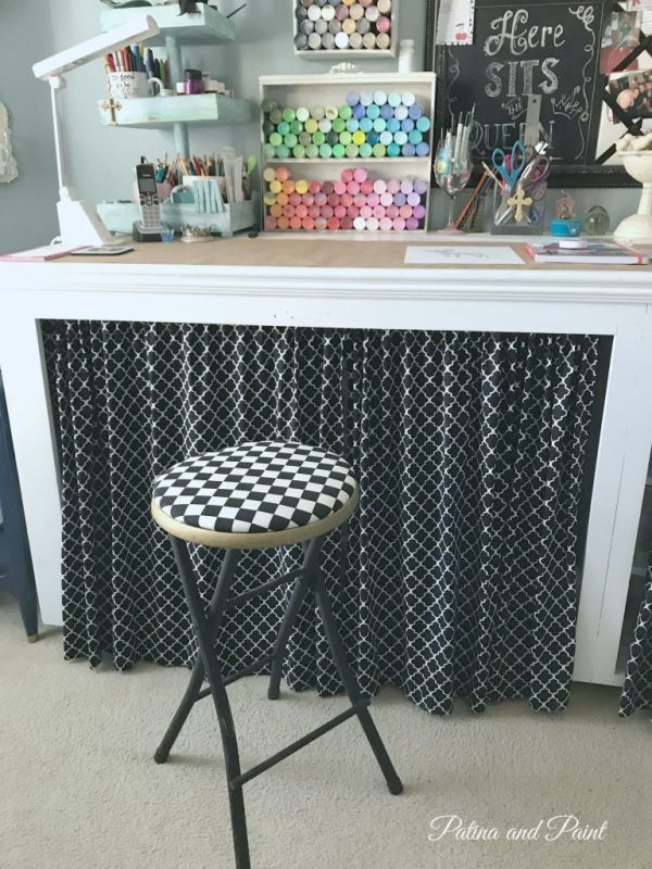 recovered office stool