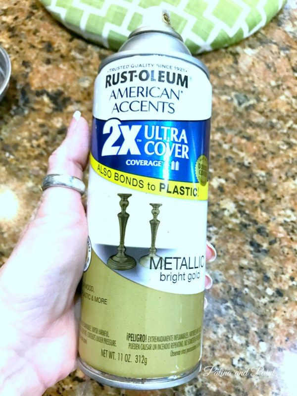 gold metallic rustoleum spray