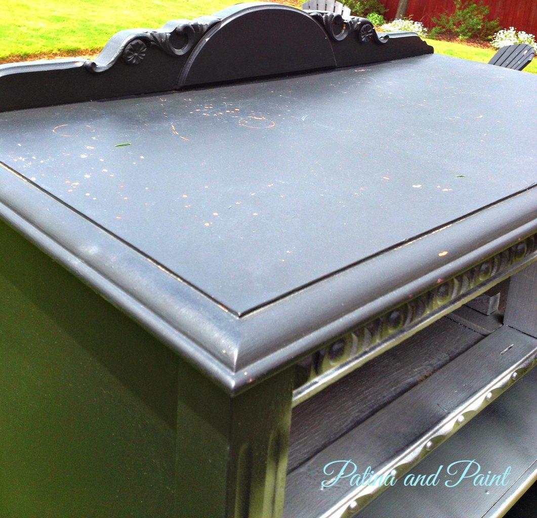 Silver Metallic Dresser Before