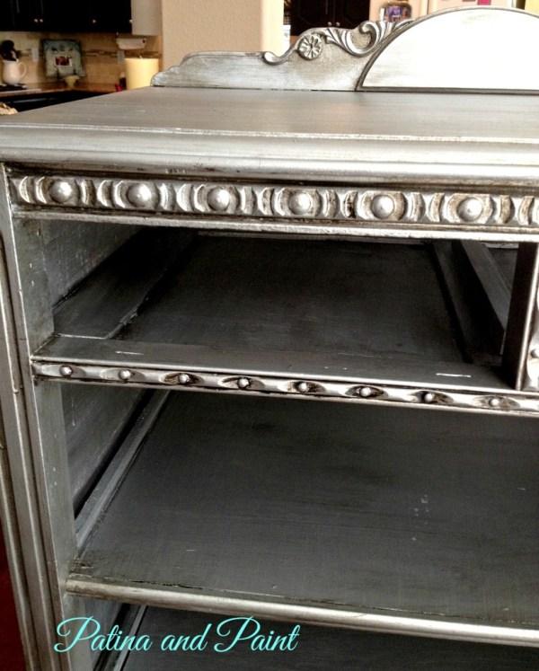 Silver dresser detail