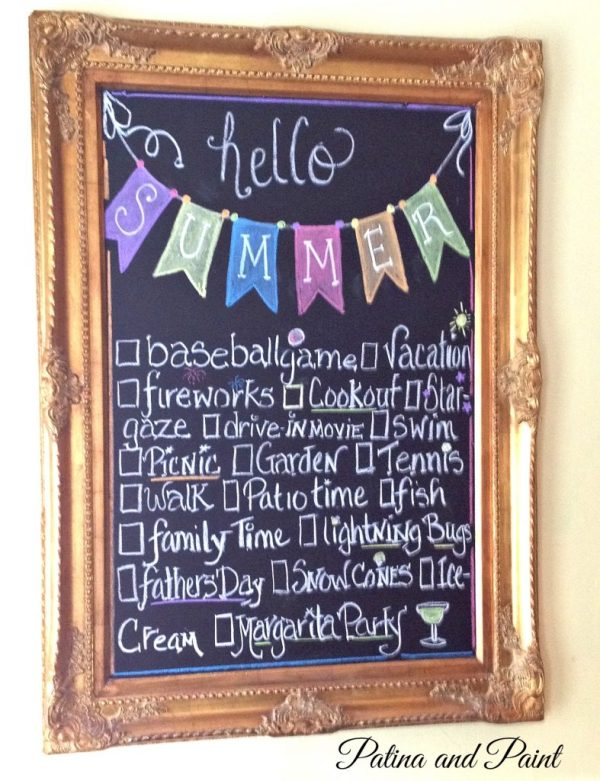 Summer chalk board