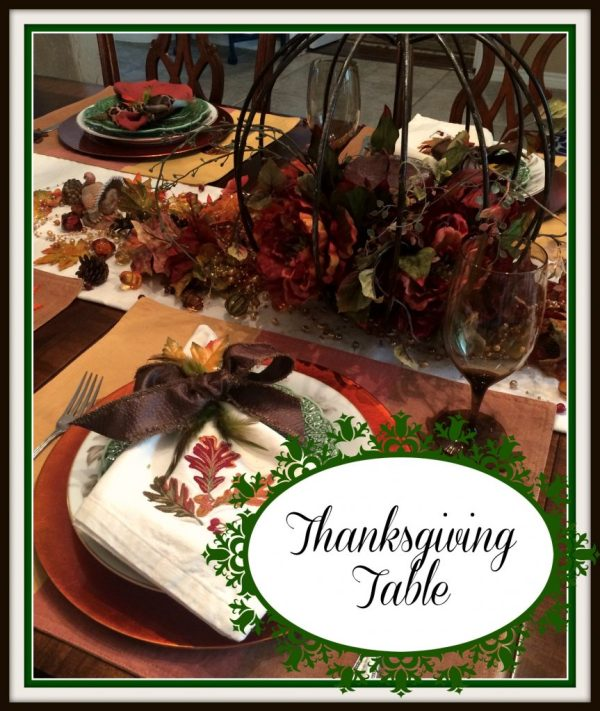 Thanksgiving table sign