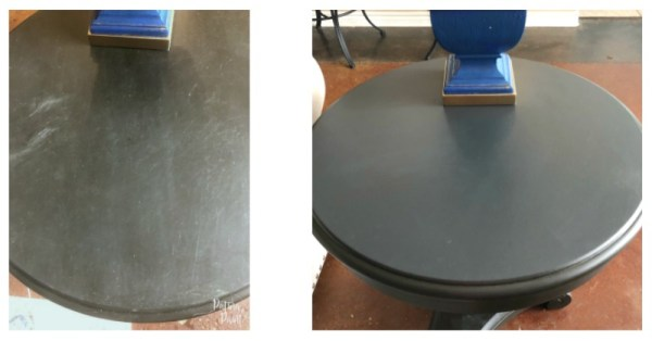 before and after table top