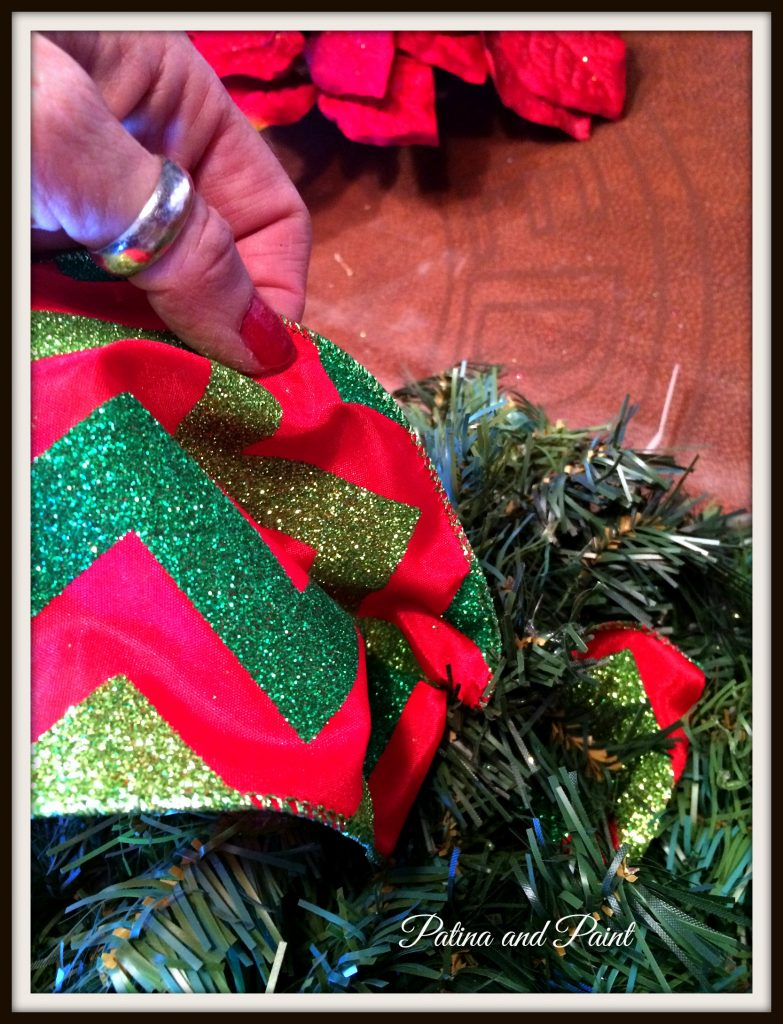 how to update your christmas wreath patina and paint