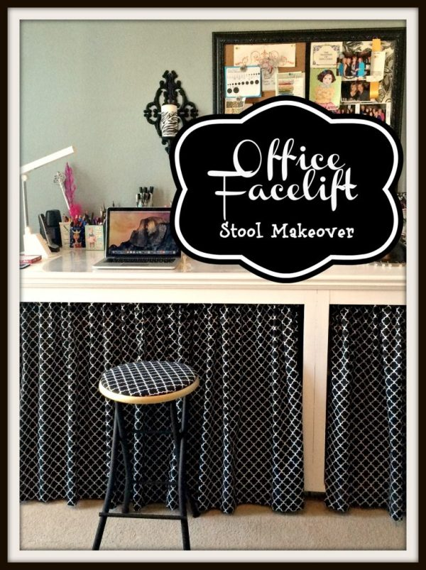 Office facelift  stool makeover