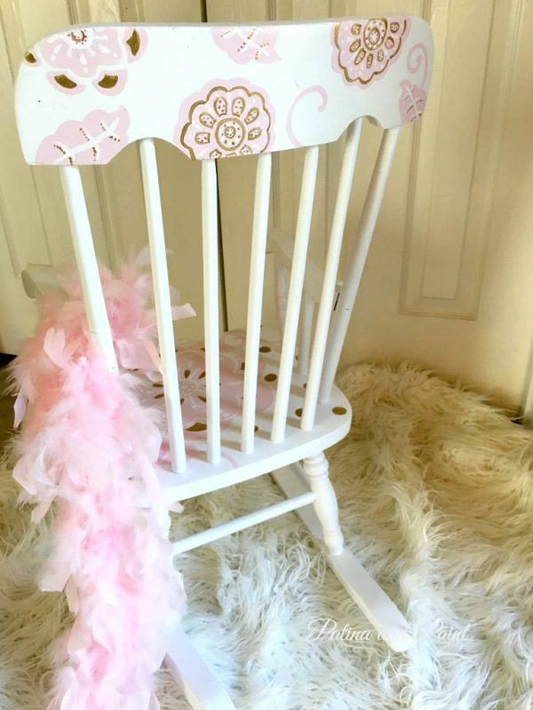 painted rocking chair 1