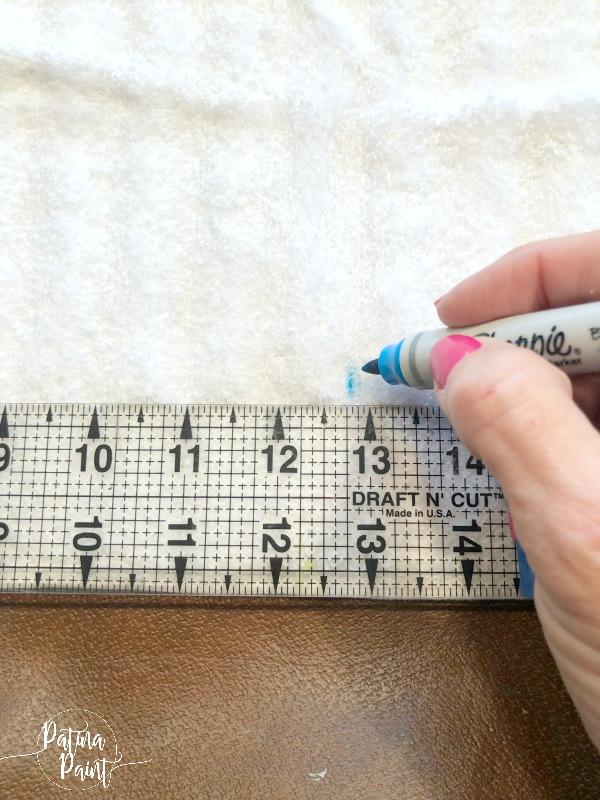 ruler, marker, towel