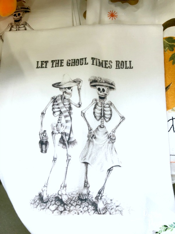 skeleton tea towel