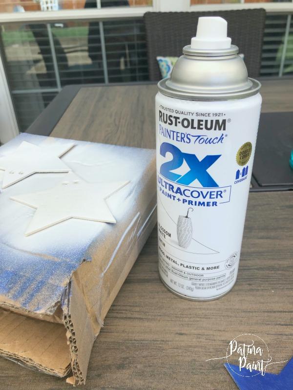 white spray paint