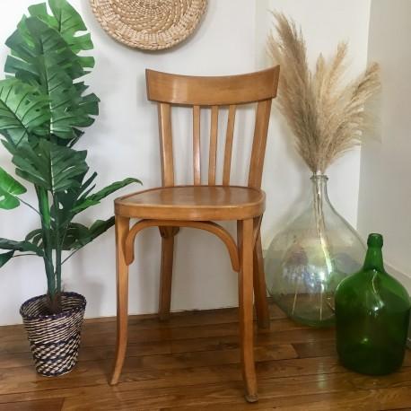 chaise de bistrot ancienne marque estampille baumann thonet en bois