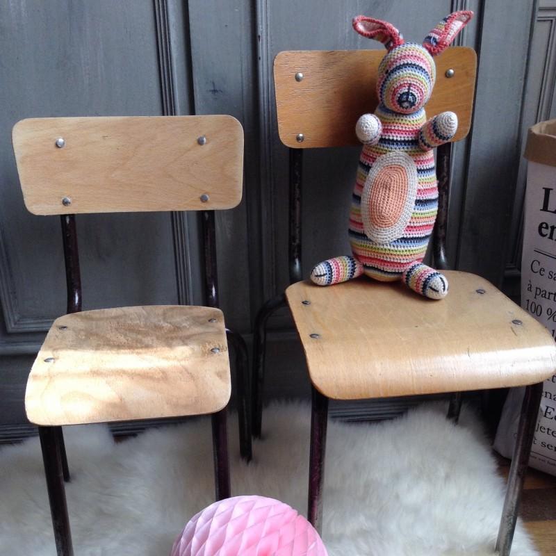 Chaise DEcole En Bois Pour Enfant Style Vintage