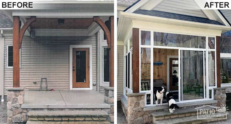 before after sunroom pictures patio