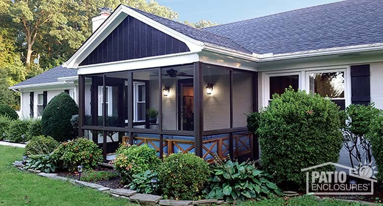 to convert a deck to a screened porch