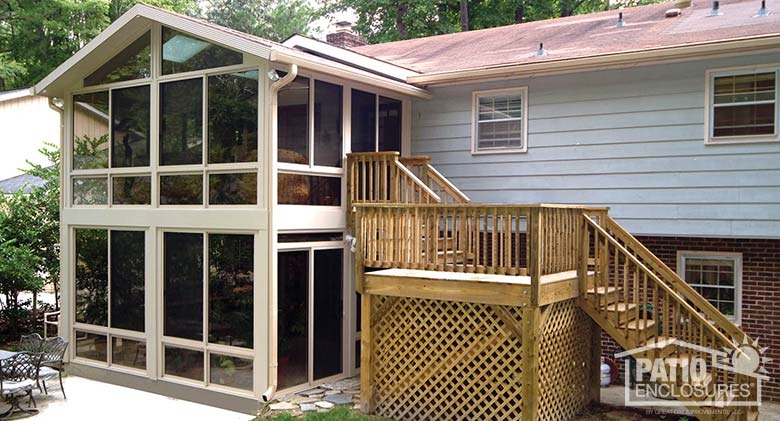 Expanding Your Split Level Home With A Sunroom | Split Level Entry Stairs | Raised Ranch | Tri Level | Modern | Knee Wall | Entrance