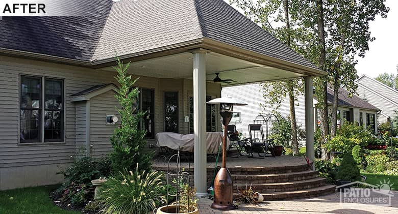buffalo patio cover wood hip roof