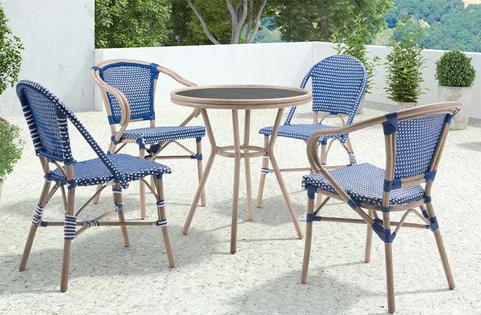 white patio furniture decor ideas