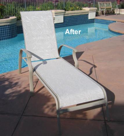 This image has an empty alt attribute; its file name is California-chaise-sling-fabric-replacement-Montego-1.jpg