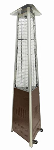 AZ Patio Heaters HLDS01 CGTHG Commercial Glass Tube Patio Heater, Bronze