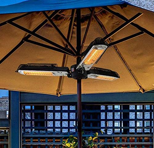 Electric Patio Heater,1000W Portable Outdoor Radiant Heaters Adjustable Heating Height and Angle for Terraces Gardens and Pavilions
