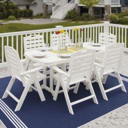 polywood nautical 37x72 dining table