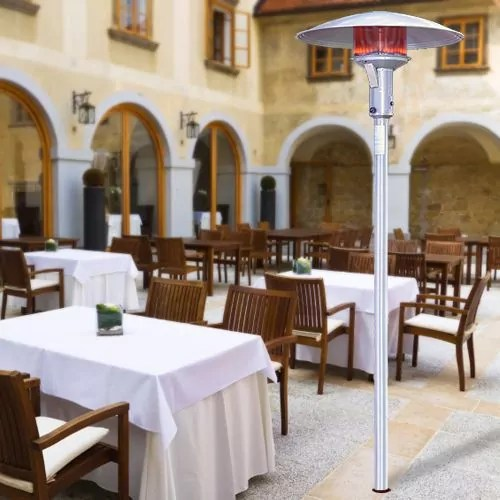 sunglo natural gas stainless steel permanent mount patio heater