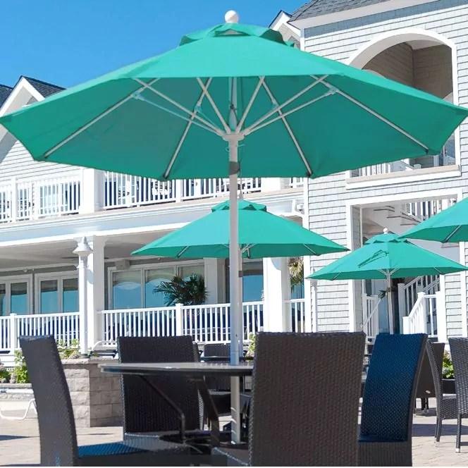 9 monterey premium wind proof commercial market umbrella