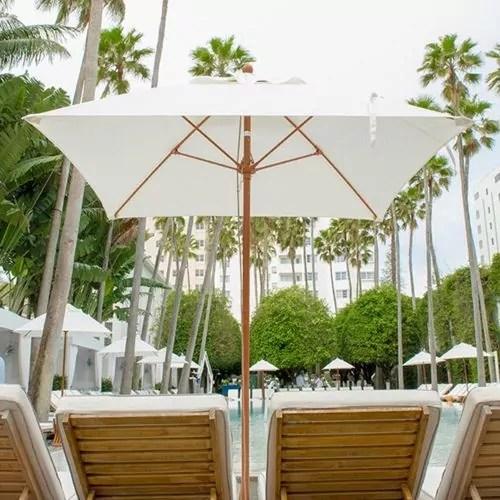 6 5 monterey square heavy duty wind proof commercial market umbrella white acrylic with white pole finish