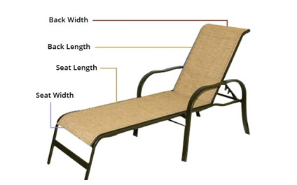 replacement chaise sling 2pc