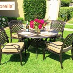 Coastlink Furniture Nevada 5 Piece Cast Aluminum Outdoor Dining Set With 48 Round Table Patio Table