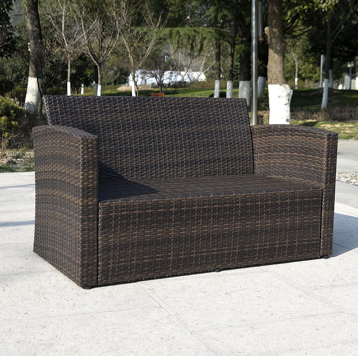 giantex 4pc wicker sofa outdoor patio