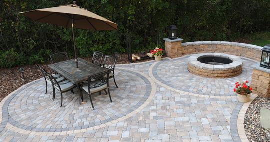 circlestone pavers patio town