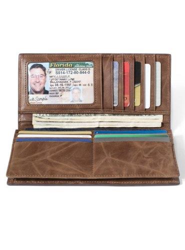 RFID Wallet for Checkbook Western