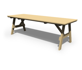 3' x 8' Picnic Table unstained