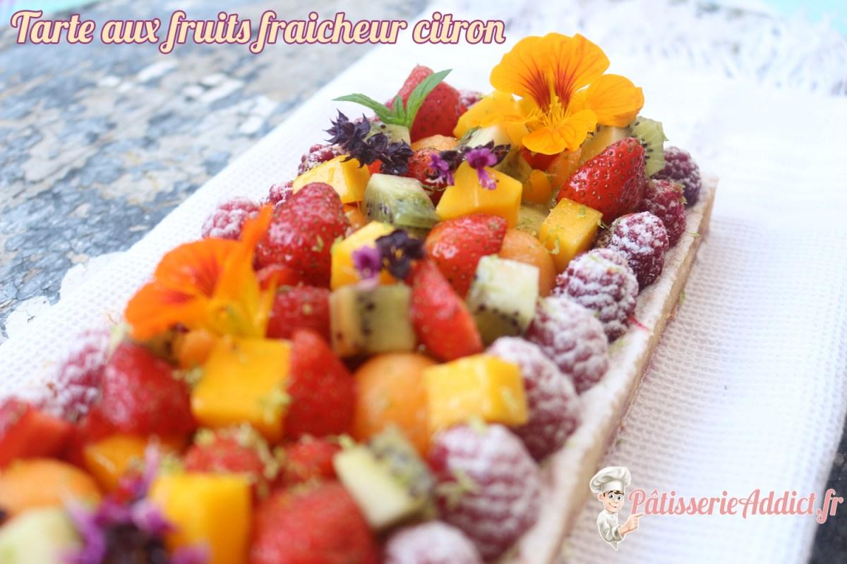 Tarte aux fruits fraicheur citron