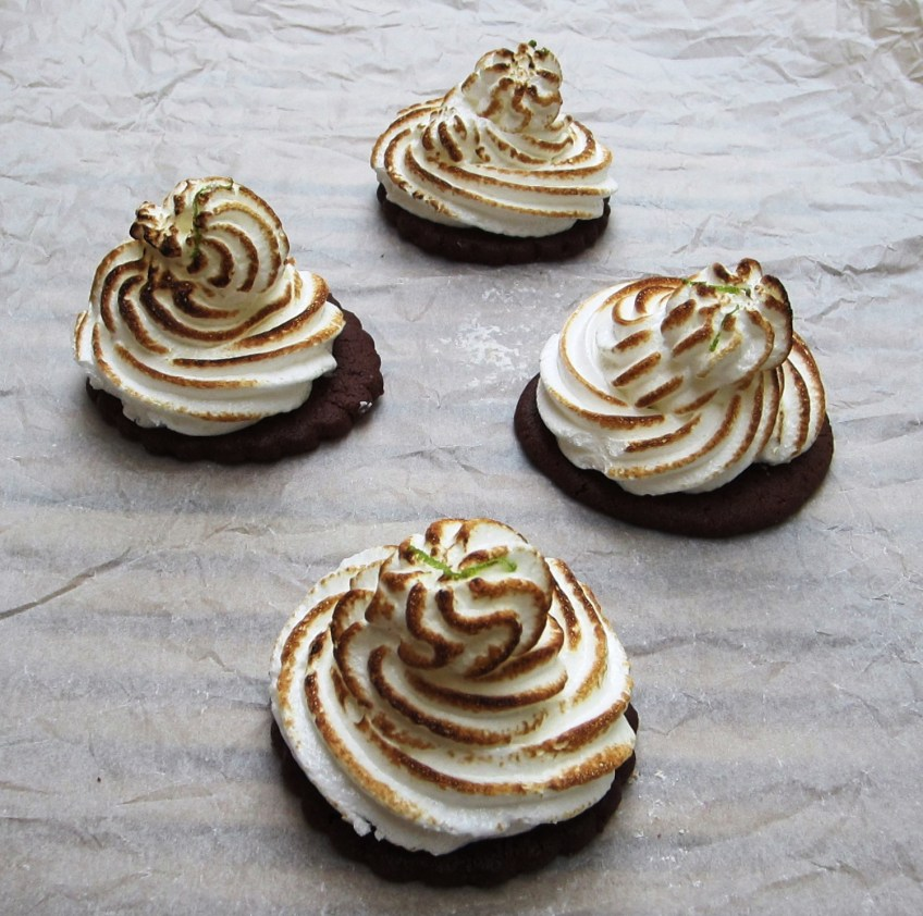 Mini Lime Meringue Pies